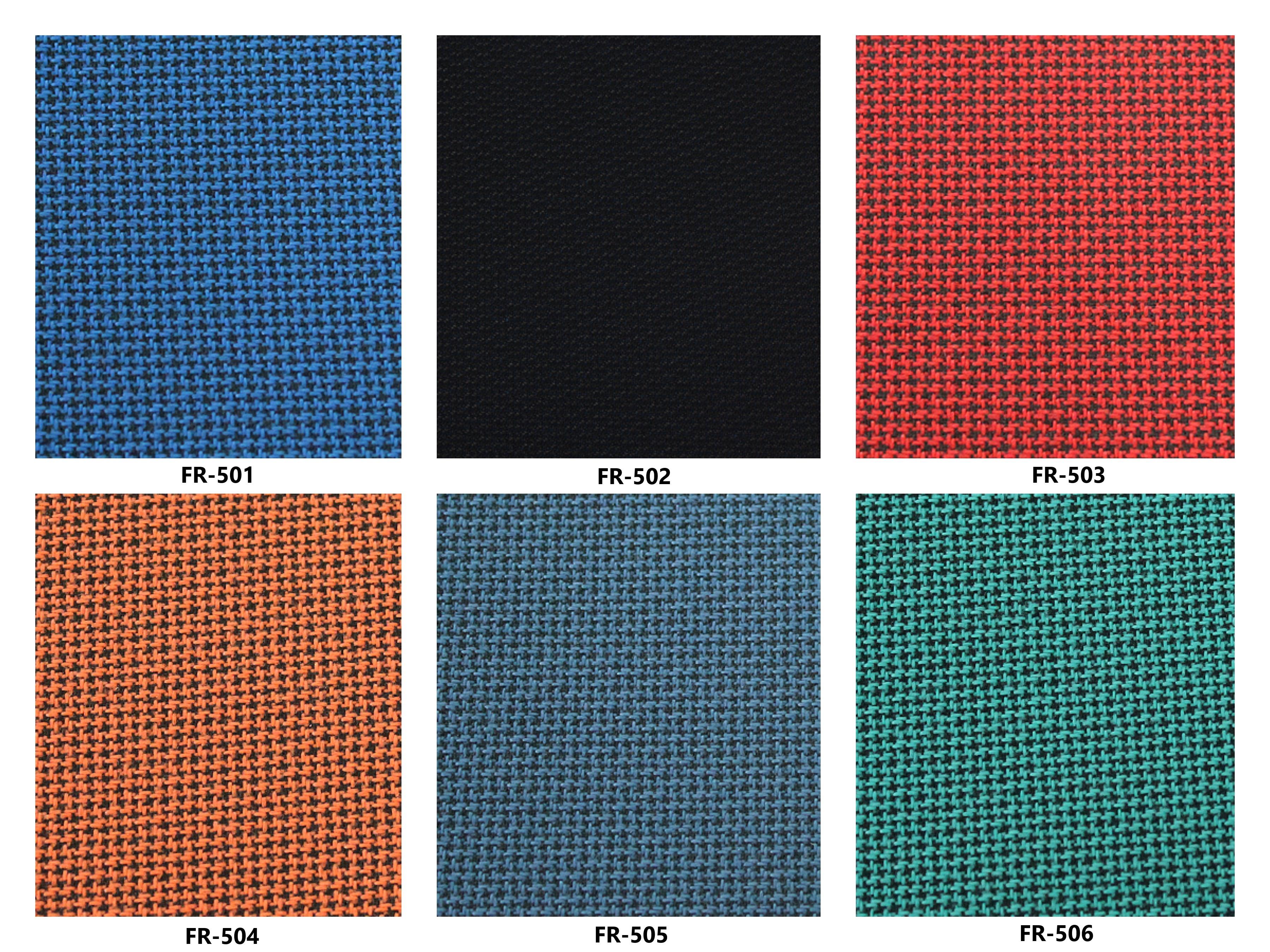 Bảng màu vải nỉ Hàn Quốc FR-501~506