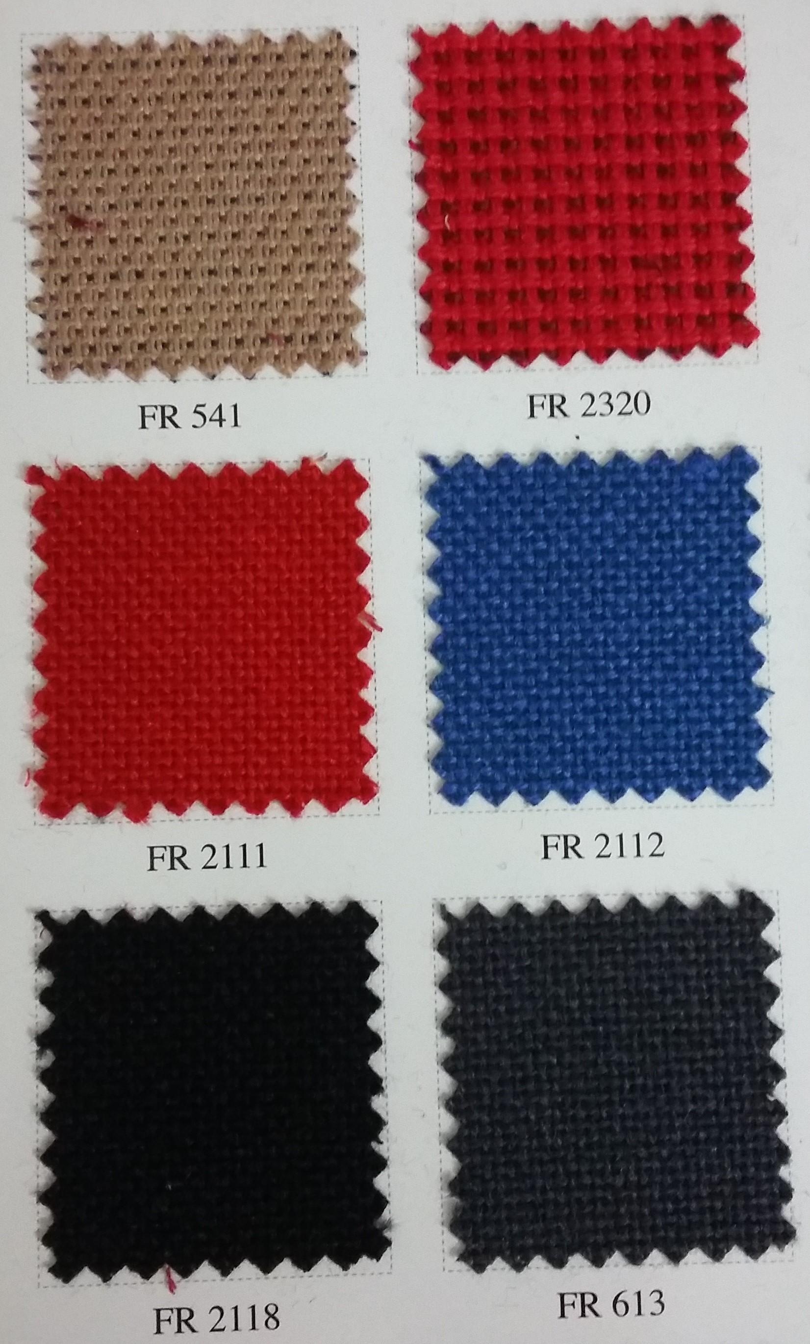 Bảng màu vải nỉ Hàn Quốc FR-541-2320-2111-2112-2118-613