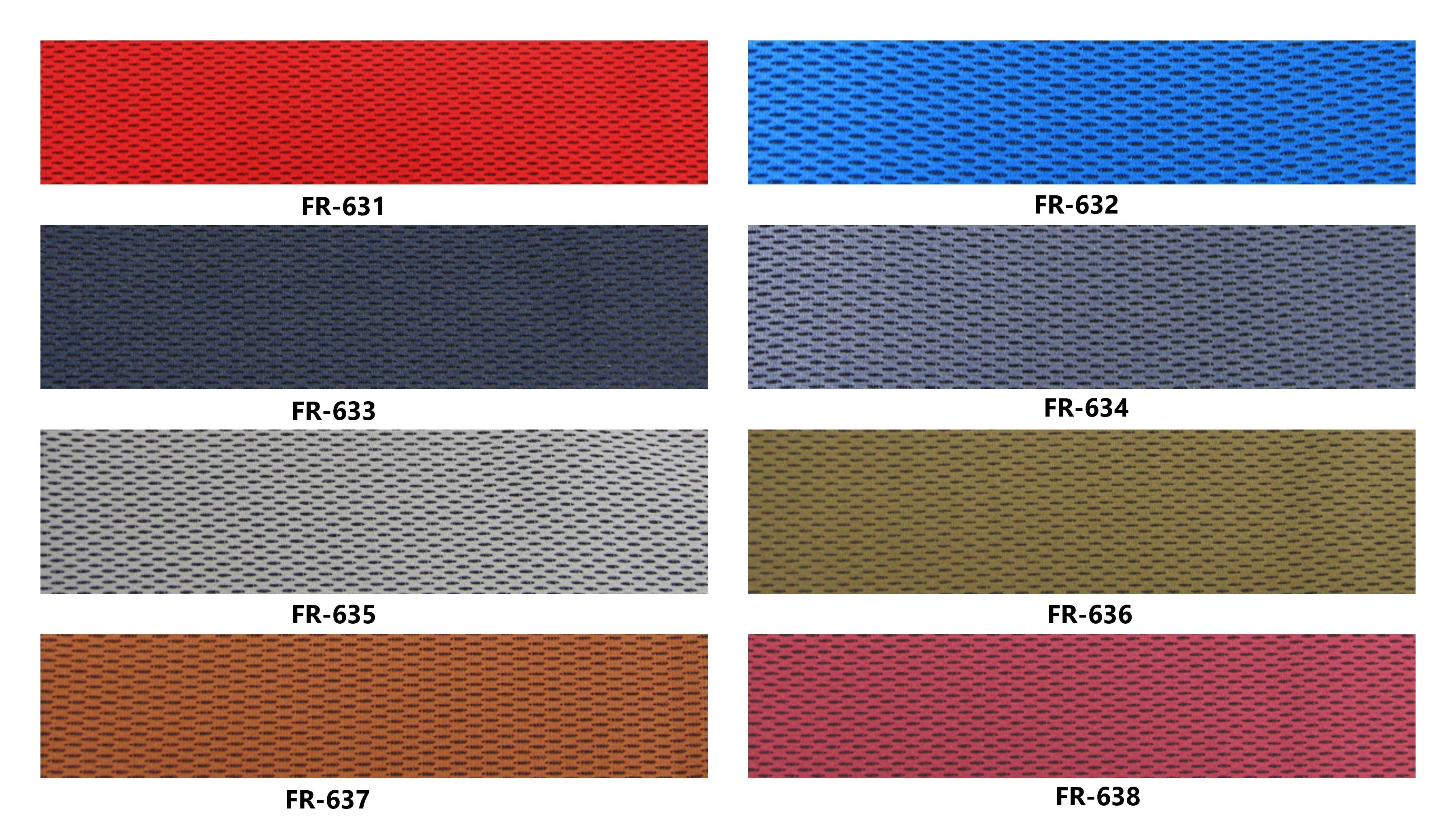 Bảng màu vải nỉ Hàn Quốc FR-631~638