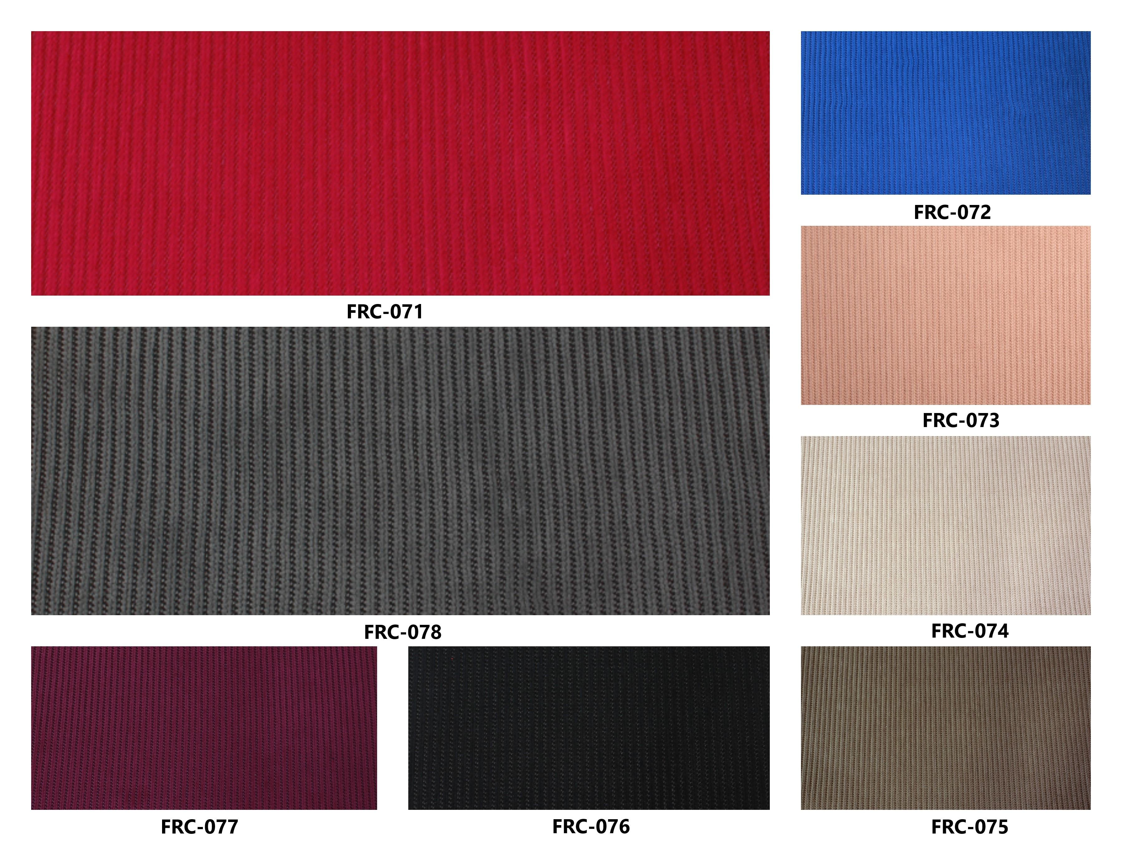 Bảng màu vải nỉ Hàn Quốc FRC-071~078
