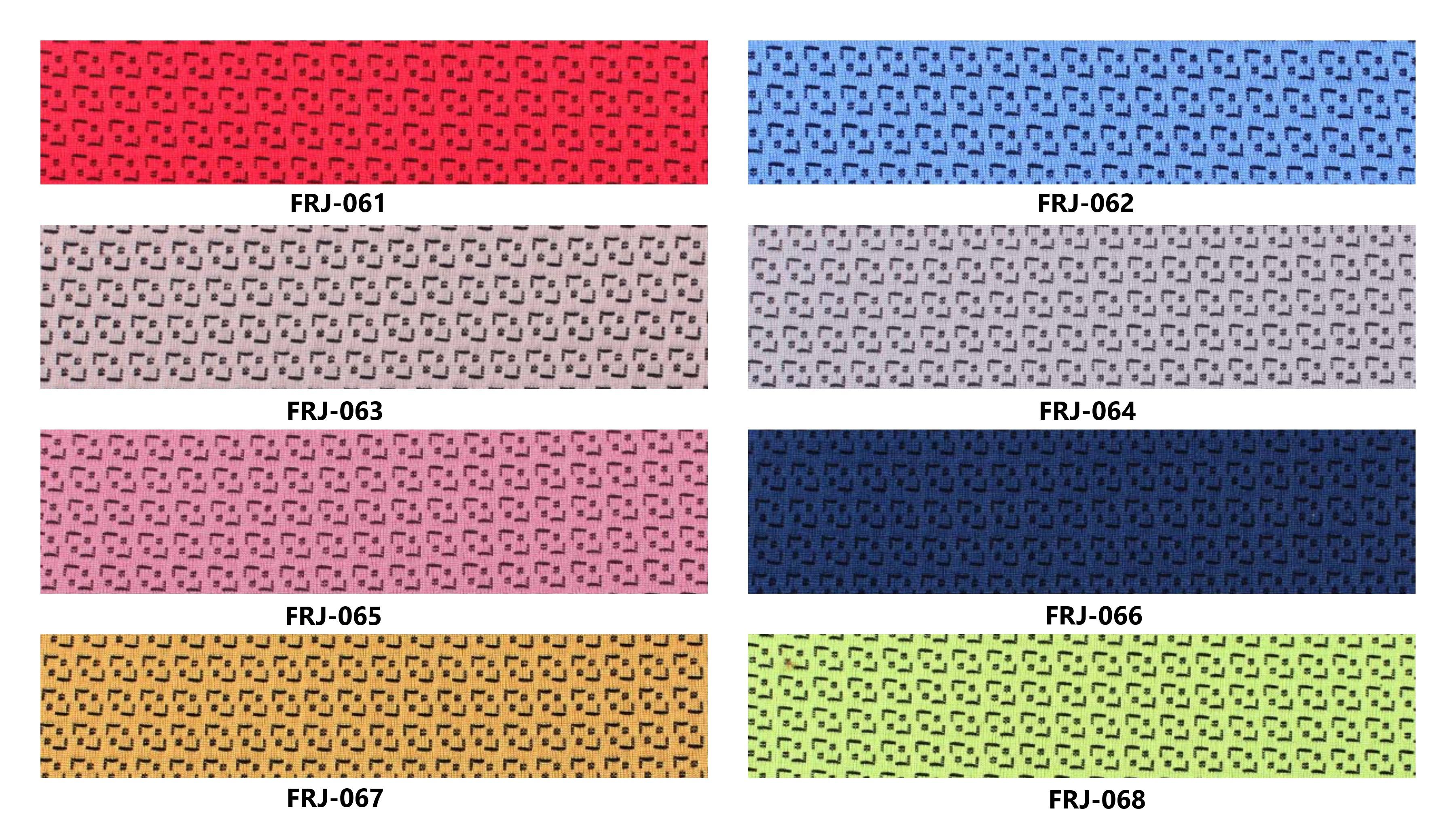 Bảng màu vải nỉ Hàn Quốc FRJ-061~068