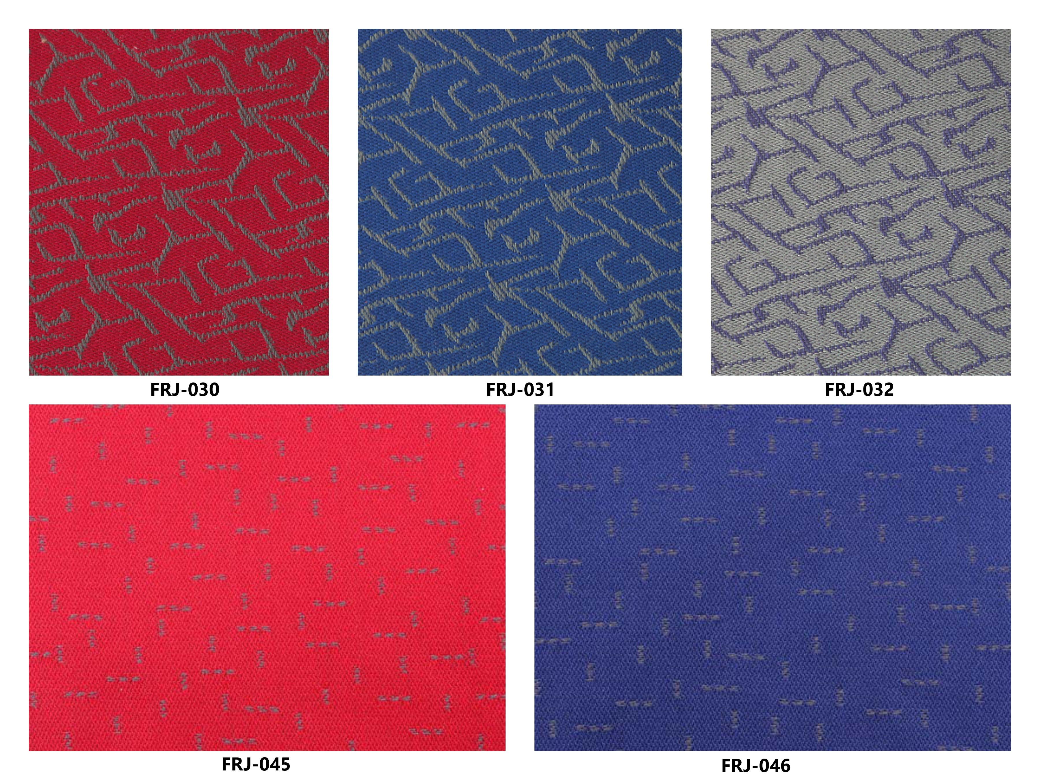 Bảng màu vải nỉ Hàn Quốc FRJ-030-031-032-045-046