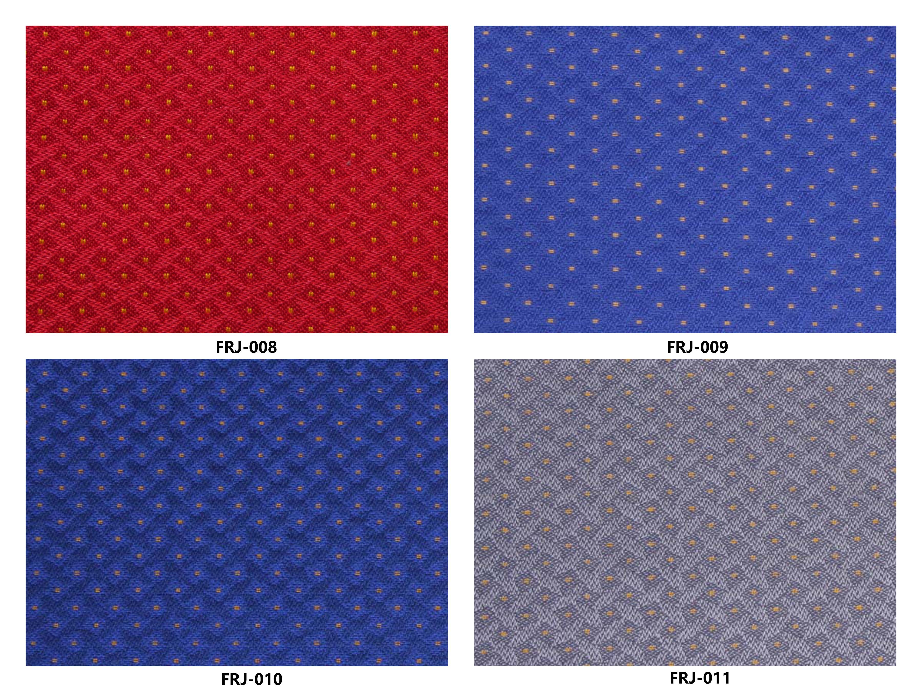 Bảng màu vải nỉ Hàn Quốc FRJ-008~011