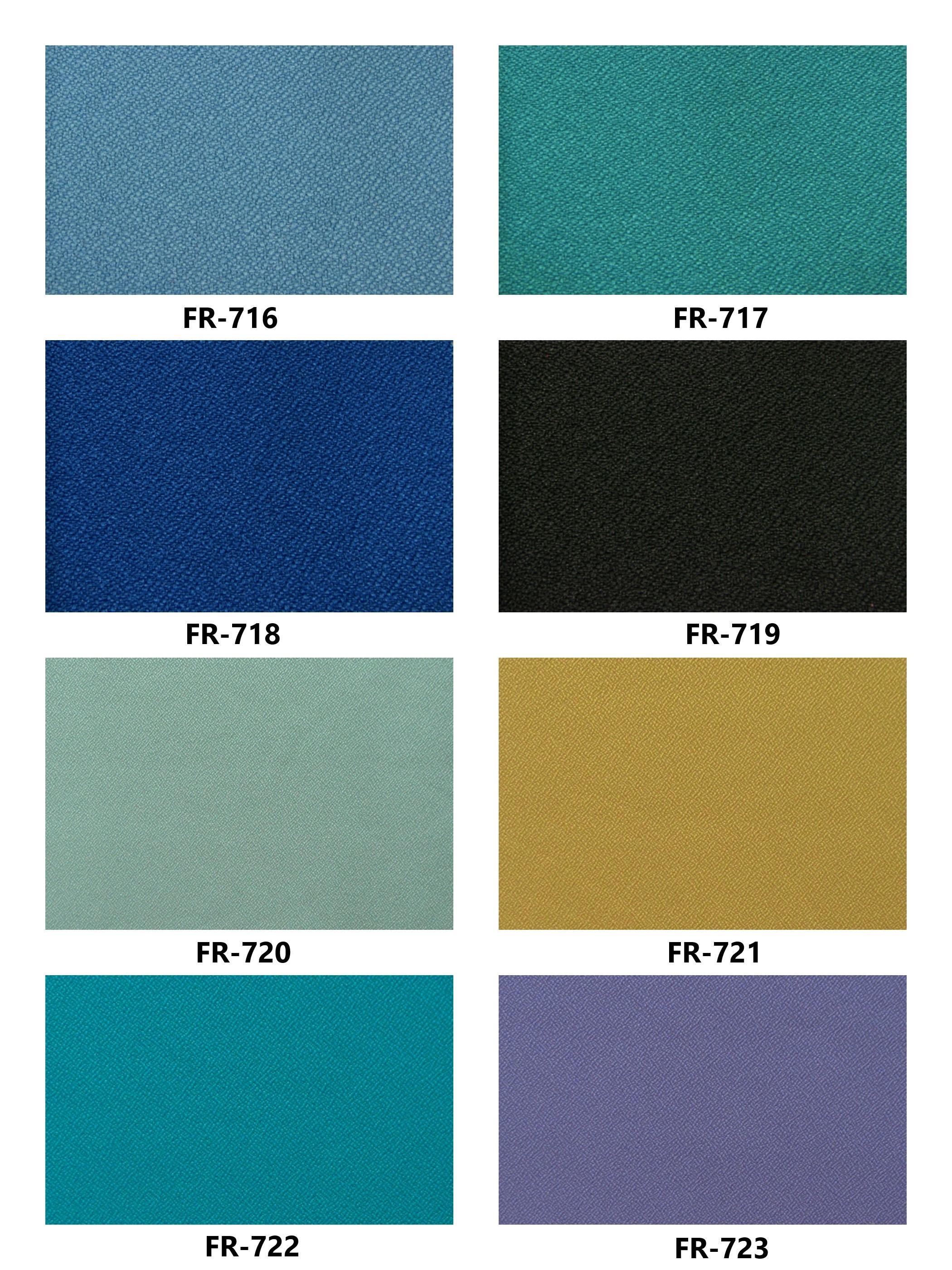 Bảng màu vải nỉ Hàn Quốc FR-716~723