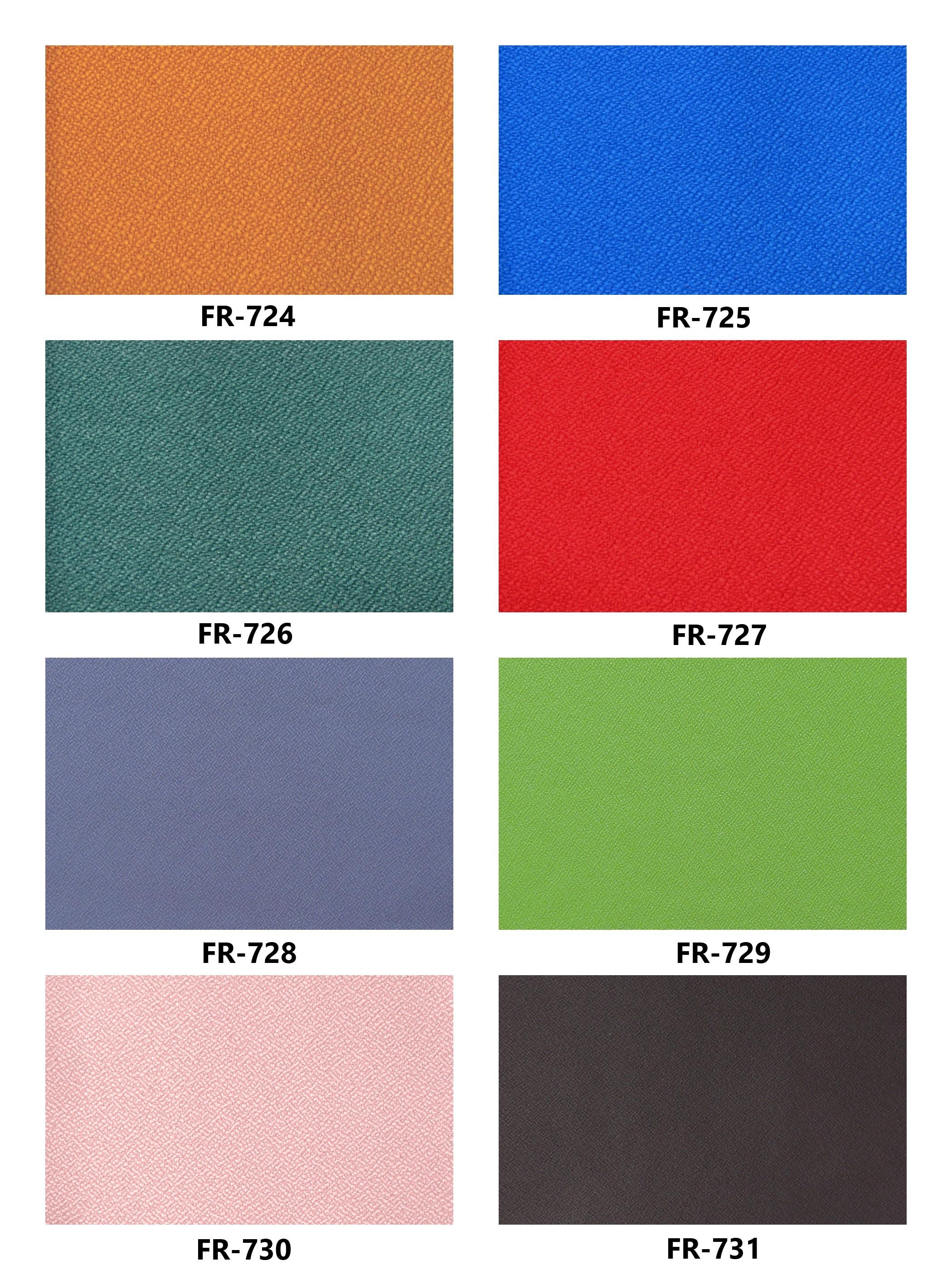 Bảng màu vải nỉ Hàn Quốc FR-724~731