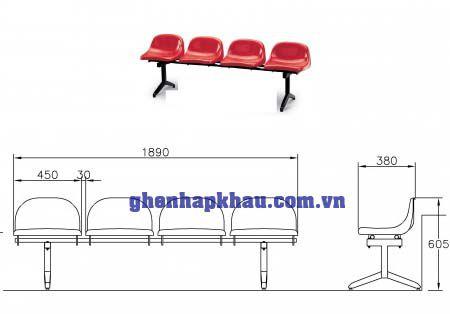 Ghế sân vận động Hanyoo H1-S4