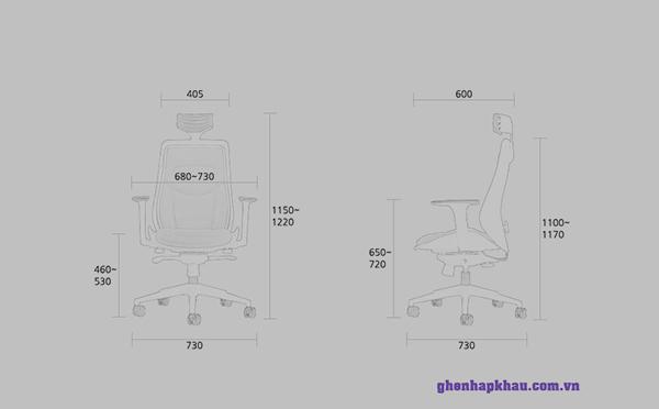Kích thước ghế revo