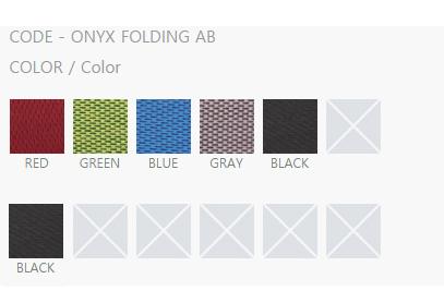 thông tin màu sắc ghế folding AB BL